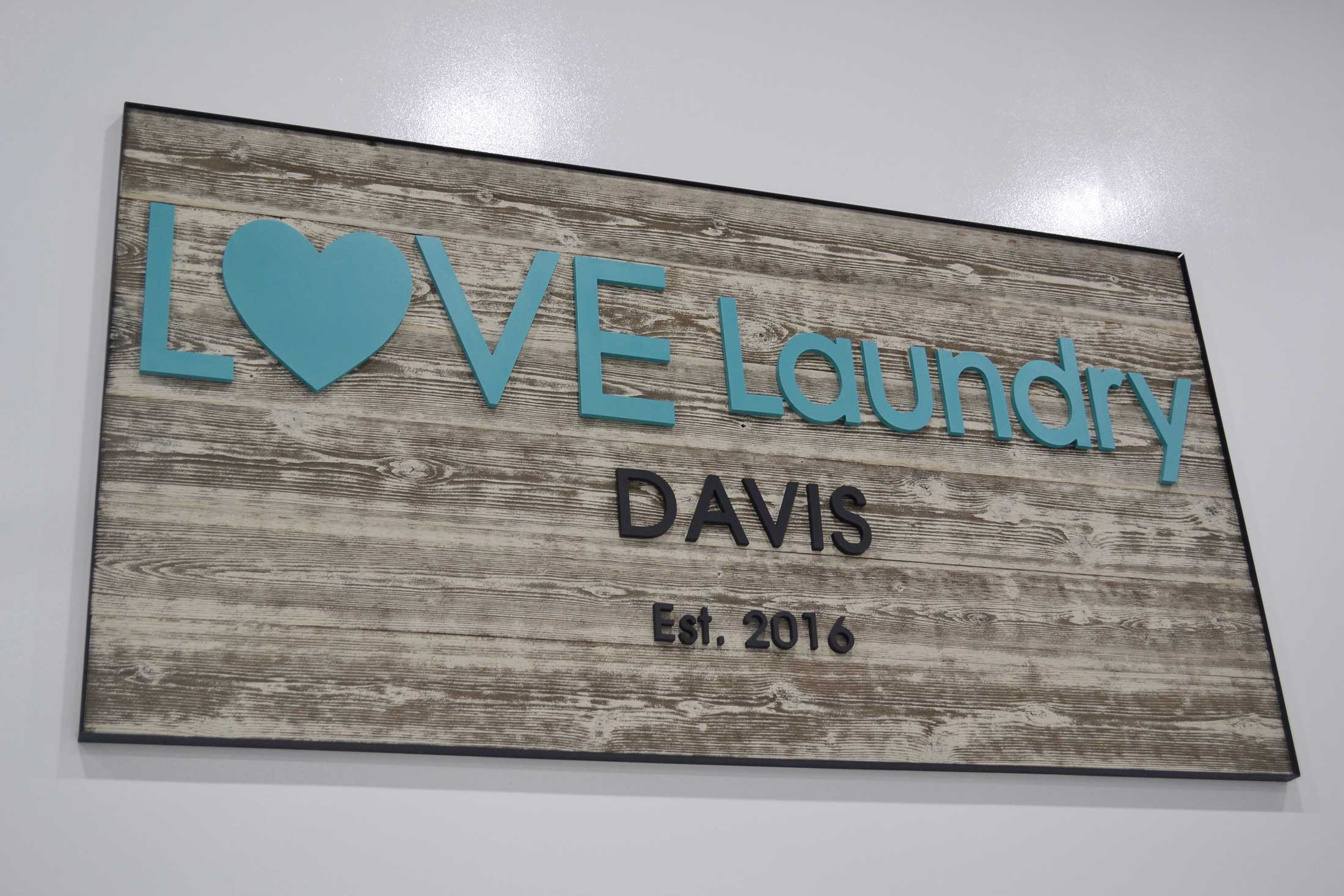 Love Laundry Davis Sign